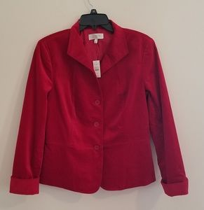 Vibrant new red Talbots blazer.
